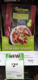 Valcom 100g Stir Fry Sauce Green Curry Lemongrass 1