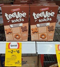 Arnotts 165g TeeVee Snacks Chocolate Brownie