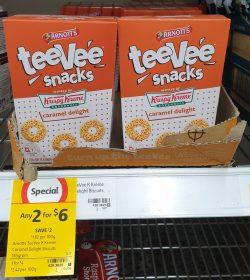 Arnotts 165g TeeVee Snacks Krispy Kreme Caramel Delight