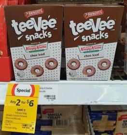 Arnotts 165g TeeVee Snacks Krispy Kreme Choc Iced