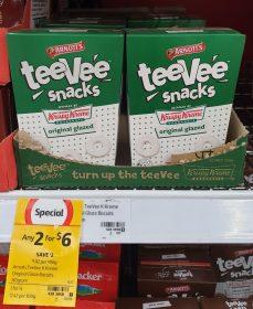 Arnotts 165g TeeVee Snacks Krispy Kreme Original Glazed