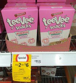 Arnotts 165g TeeVee Snacks Krispy Kreme Strawberry Sprinkles