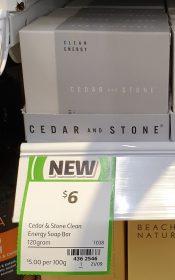 Cedar And Stone 120g Clean Energy