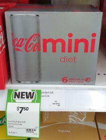 Coca Cola 6 X 250mL Mini Cans Diet