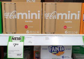 Coca Cola 6 X 250mL Mini Cans Vanilla