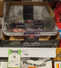 Coles 2 Pack Aluminium Trays BBQ