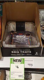Coles 5 Pack Aluminium Trays BBQ