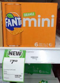 Fanta 6 X 250mL Mini Cans