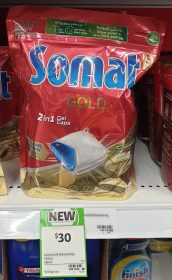 Somat 15 Pack Gold Dishwashing Tablets 2 In 1 Gel Caps