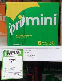 Sprite 6 X 250mL Mini Cans