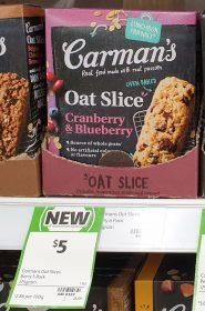Carmans 175g Slice Oat Cranberry Blueberry