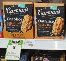 Carmans 175g Slice Oat Golden Oat Coconut