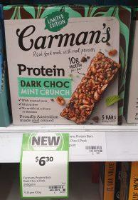 Carmans 200g Bars Protein Dark Choc Mint Crunch