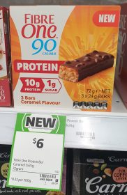 Fibre One 72g Bars Protein Caramel Flavour