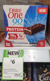 Fibre One 72g Bars Protein Cookies Cream Flavour