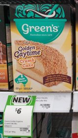 Greens 650g Cake Mix Golden Gaytime Crumb