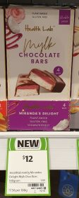 Health Lab 160g Mylk Chocolate Bars Mirandas Delight
