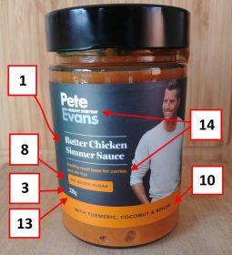 Pete Evans 330g Simmer Sauce Jamaican, Butter Chicken Front