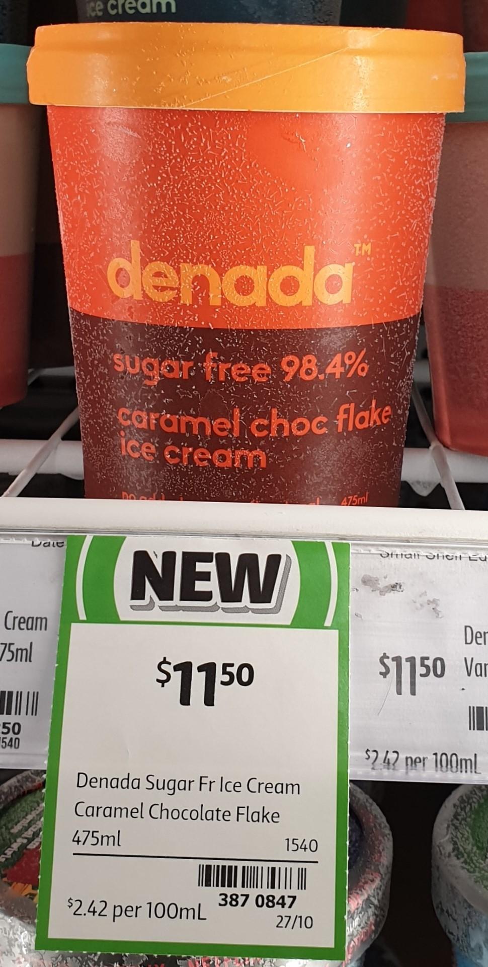 Denada 475mL Ice Cream Caramel Choc Flake