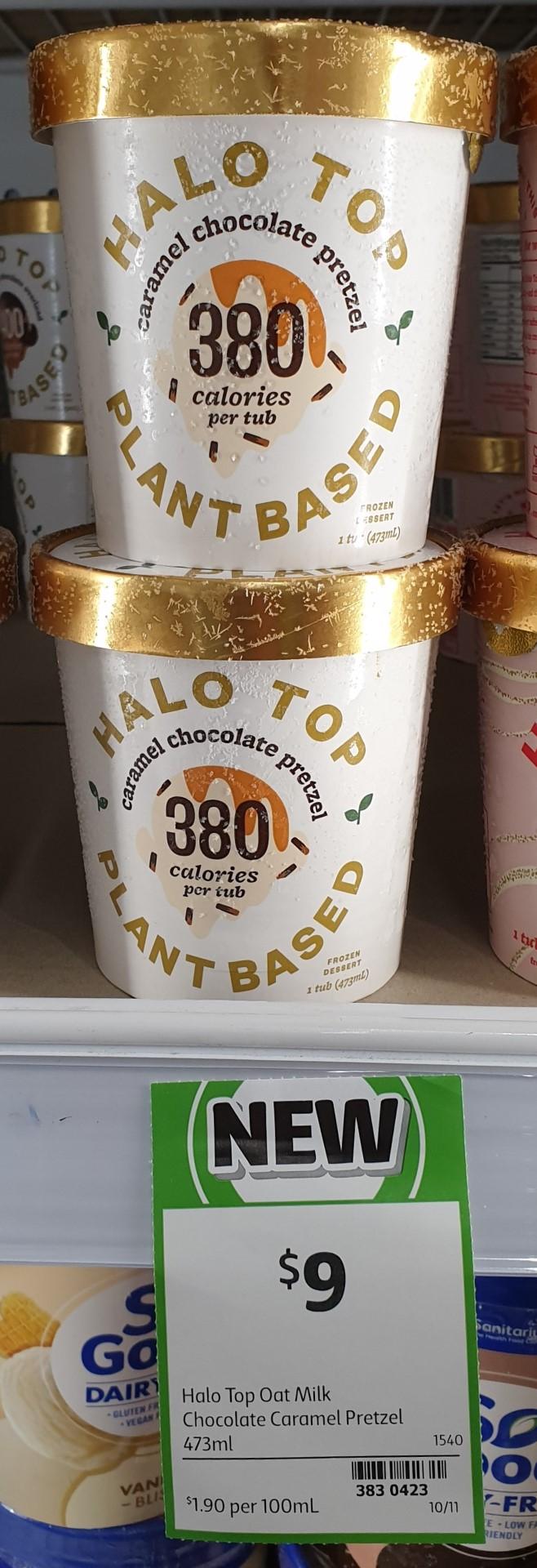 Halo Top 473mL Plant Based Caramel Chocolate Pretzel
