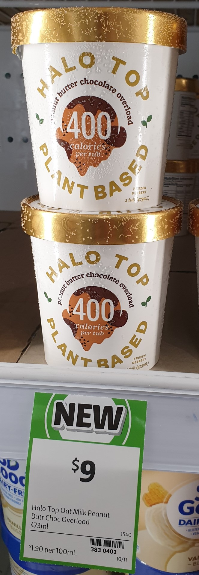 Halo Top 473mL Plant Based Peanut Butter Chocolate Overload